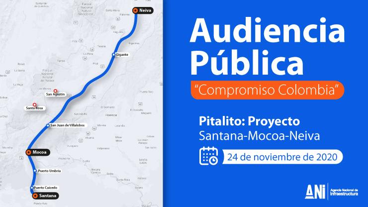 """Audiencia pública """"Compromiso Colombia"""" del proyecto Santana- Mocoa-Neiva queda reprogramada para el 24 de noviembre"""