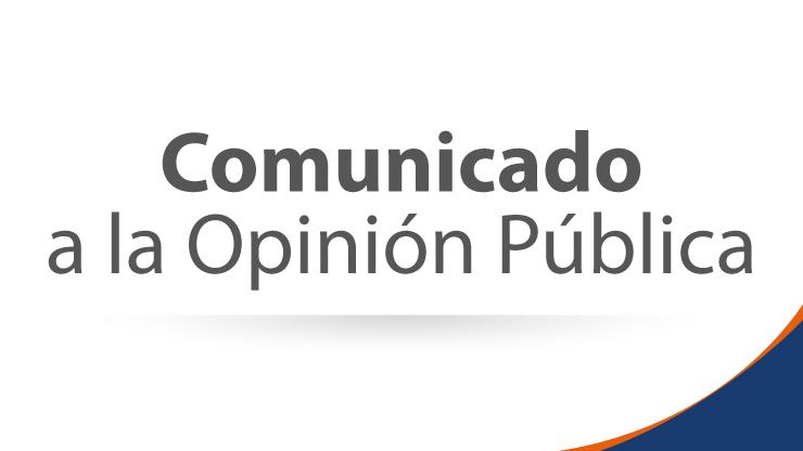 COMUNICADO A LA OPINIÓN PÚBLICA DEL PRESIDENTE DE LA AGENCIA NACIONAL DE INFRAESTRUCTURA, LOUIS KLEYN