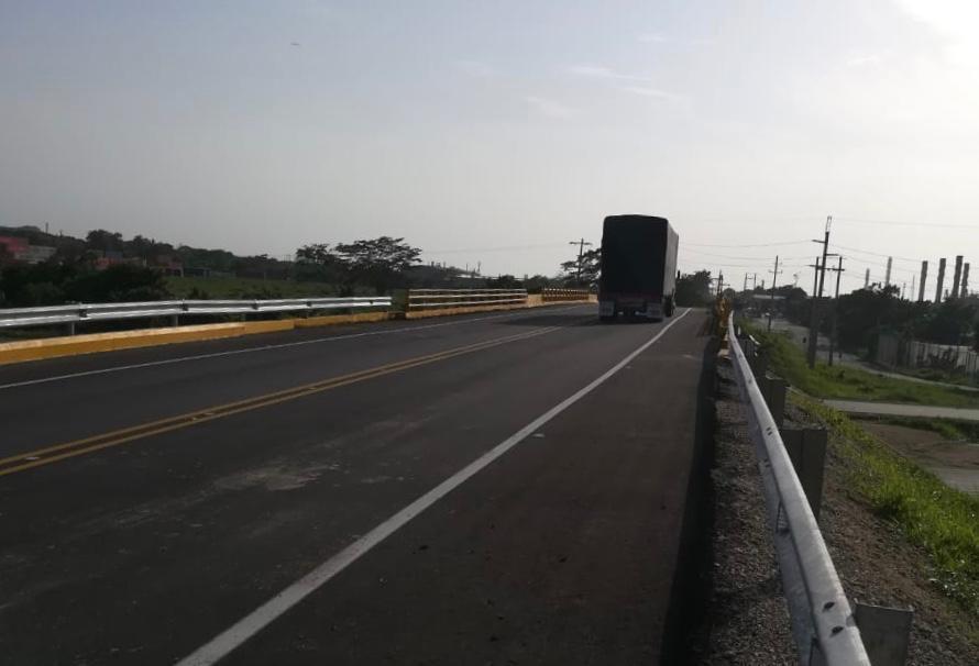 ANI puso en funcionamiento puente en el sector Abocol, que mejora la conectividad entre Gambote, Mamonal y Cartagena