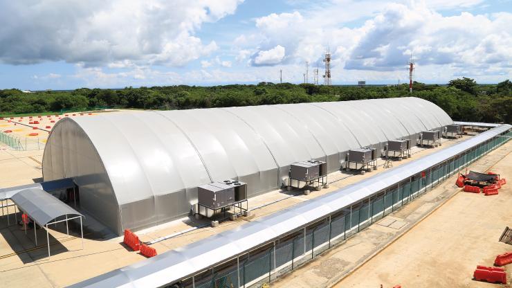 El 26 de noviembre inicia la operación de la zona de chequeo provisional del aeropuerto de Barranquilla