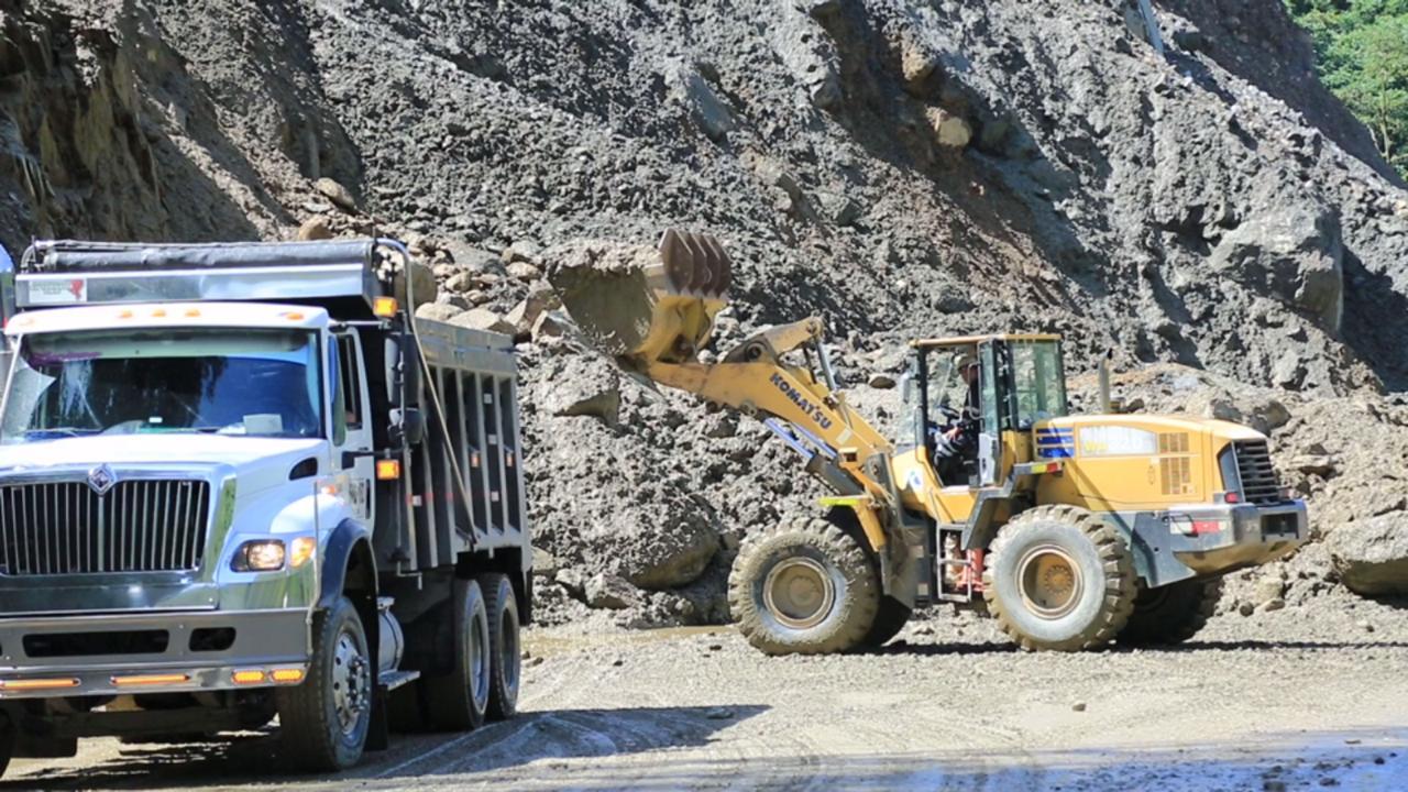 Más de 3.500 metros cúbicos de material se remueven al día en el km58 de la vía Bogotá - Villavicencio