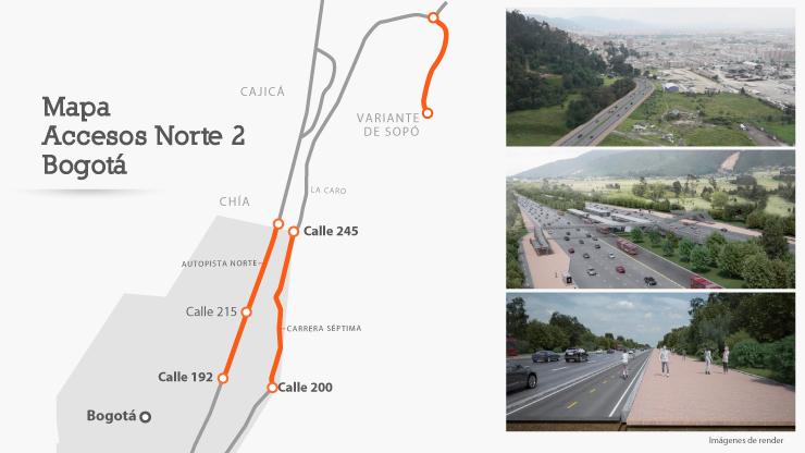 ANI iniciará proceso de contratación de la Fase II de Accesos al Norte de Bogotá en segundo semestre