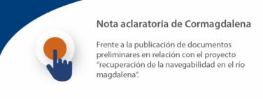 NOTA ACLARATORIA DE CORMAGDALENA