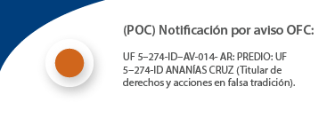 (POC) Notificación por aviso OFC