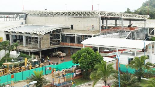 Terminal del aeropuerto de Bucaramanga alcanza el 74% de avance en su expansión