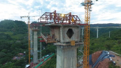 Así va la construcción del nuevo viaducto en Gualanday en el Tolima