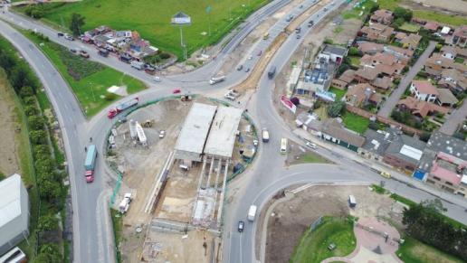 Con la construcción del enlace a desnivel de Mosquera - La Mesa avanza autopista Bogotá (Fontibón) - Facatativá - Los Alpes