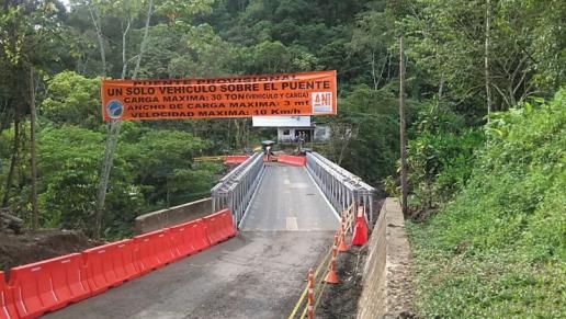 Habilitan puente provisional en la vía Santa María - San Luis de ... - Excelsio