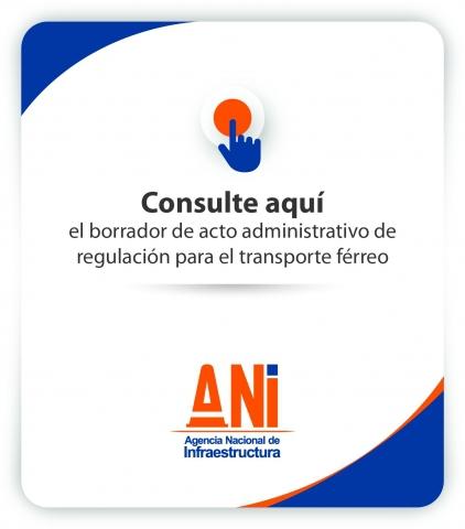 Borrador acto administrativo de regulación para el transporte férreo