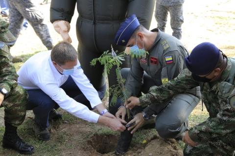 Gobierno nacional inicia 'sembratón' de 2.650 árboles en el Tolima, a través del proyecto concesionado Bogotá-Girardot