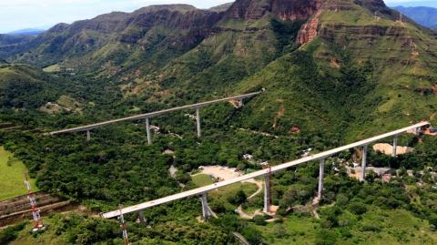 Viaducto Gualanday II, el más extenso del proyecto Girardot–Ibagué–Cajamarca (GIC), entra en funcionamiento en enero de 2020