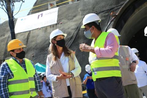 A toda marcha, las obras de infraestructura en Antioquia: Vicepresidenta monitorea avances en Amagá del Proyecto Pacífico 1
