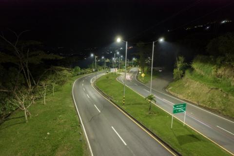 La ANI restableció el sistema de iluminación en el trayecto entre la Estación Uribe y Las Pavas, en Manizales