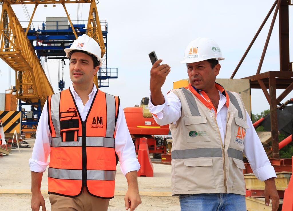 Presidente de la ANI inspecciona avance de obras del viaducto más extenso de Colombia