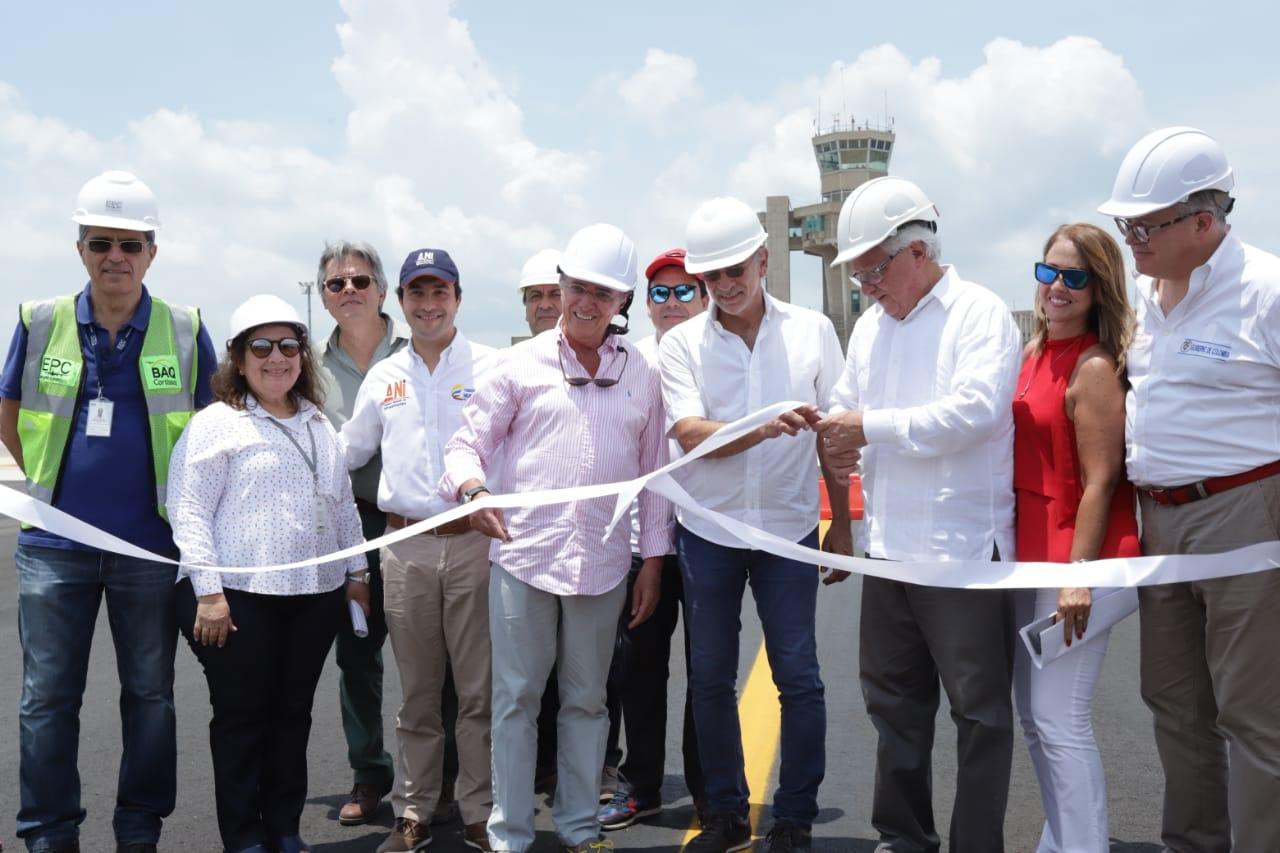 Finalizan obras de modernización del campo de vuelo del Aeropuerto Ernesto Cortissoz