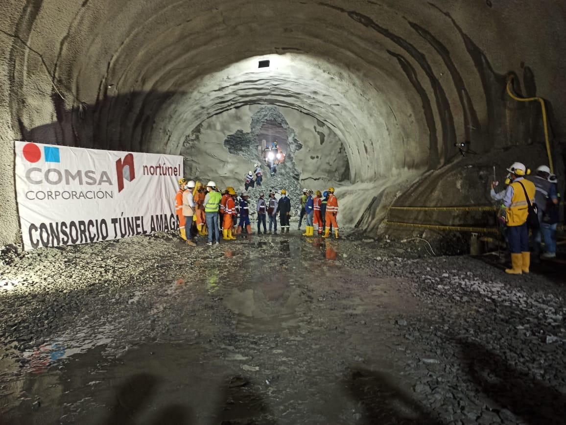 El Túnel de Amagá finalizó la excavación de la calzada izquierda y anticipó el cale 16 meses