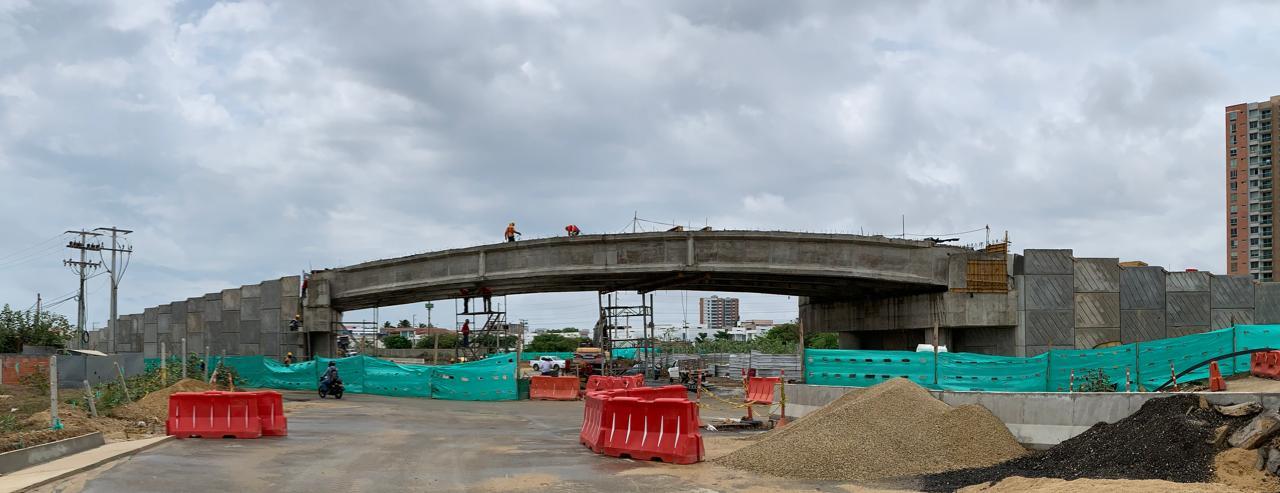 En julio entrará en operación la intersección vial que conecta a la comunidad de Villa Campestre con Puerto Colombia en el Atlántico