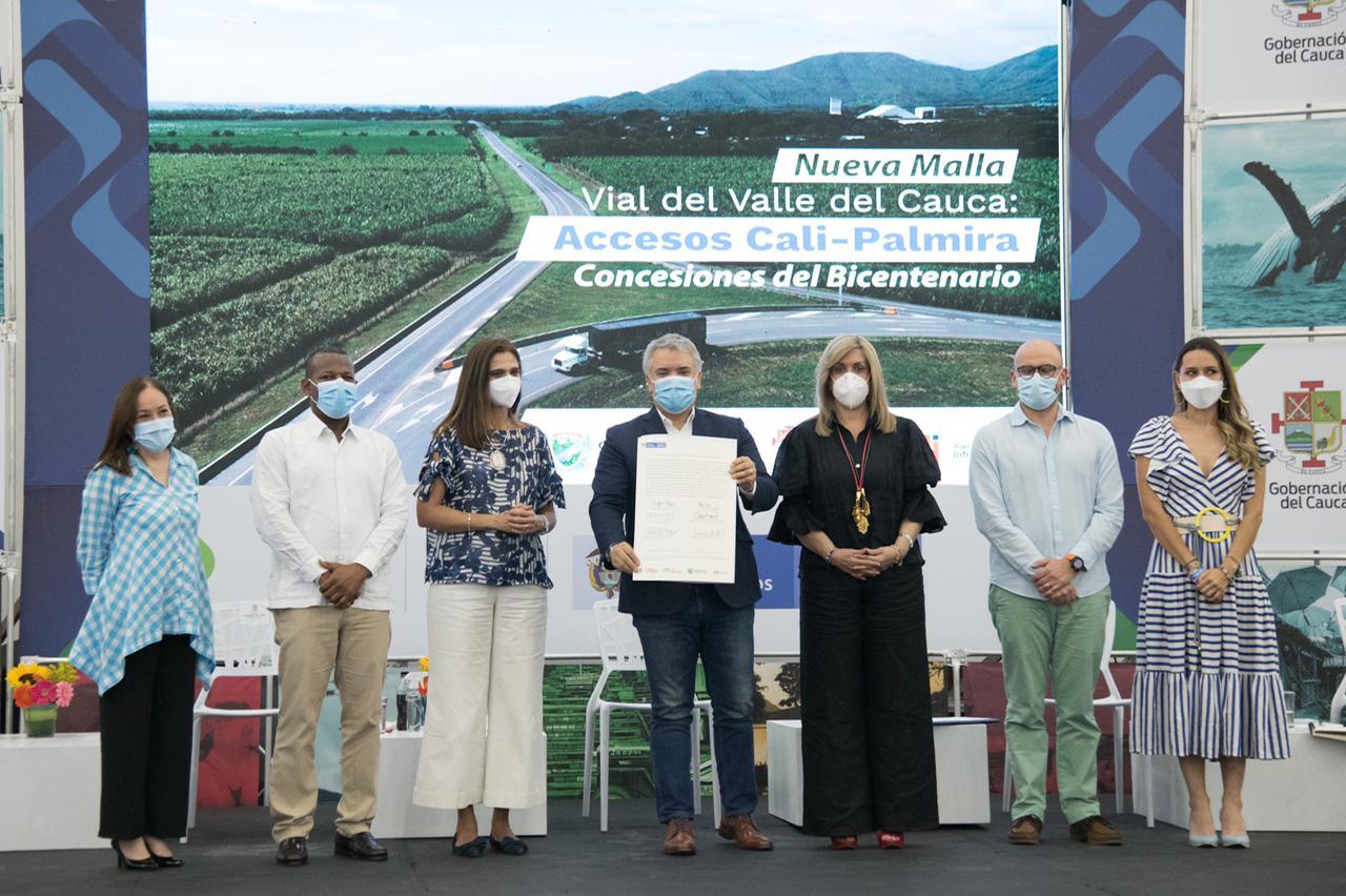 Gobierno Nacional firma el contrato de concesión Nueva Malla Vial del Valle del Cauca: Accesos Cali-Palmira, la primera Concesión del Bicentenario